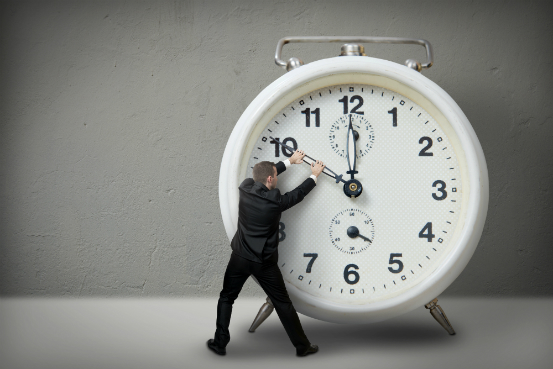 management businessman clock